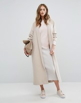 Missguided Shawl Collar Robe Maxi Coat