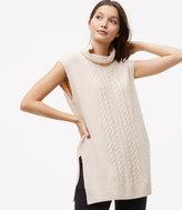 LOFT Sleeveless Cable Tunic Sweater