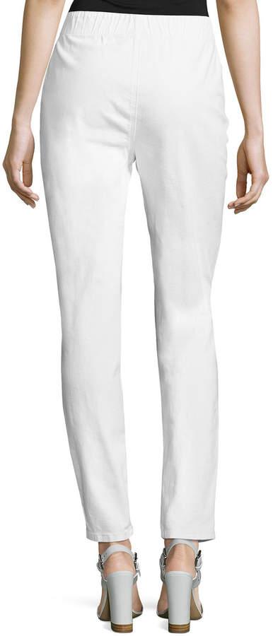 Joan Vass Stretch Denim Slim Jeans, Plus Size