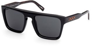 Ermenegildo Zegna Men's Square Acetate Sunglasses w/ Stitching