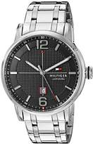 Tommy Hilfiger Men's 1791215 George Analog Display Japanese Quartz Silver-Tone Watch