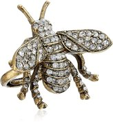 Kenneth Jay Lane Antique and Crystal Bee Adjustable Ring