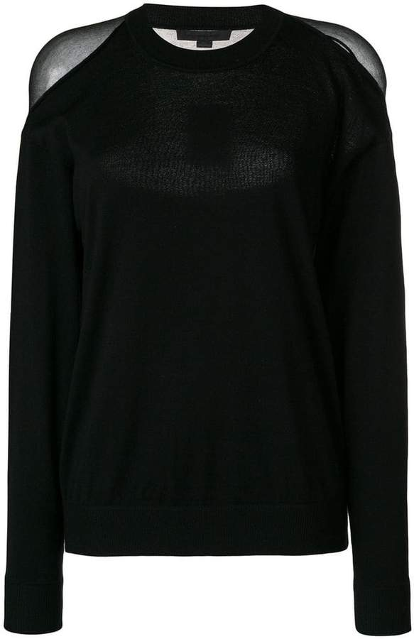 Alexander Wang sheer panelled sweater