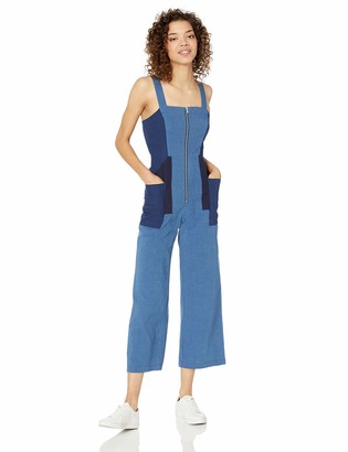 BCBGeneration Women's Cropped Chambray Jumpsuit