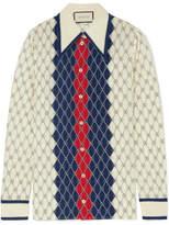 Gucci Printed Washed-silk Shirt
