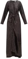 Preen by Thornton Bregazzi Loena Sequinned-jersey And Silk-satin Maxi Dress - Womens - Black
