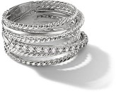 Thumbnail for your product : David Yurman Crossover Wide Ring with Diamonds