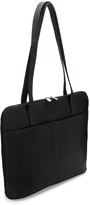 Le Donne Black Moderno Business Leather Tote