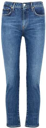 A Gold E Agolde AGOLDE Toni Blue Slim-leg Jeans