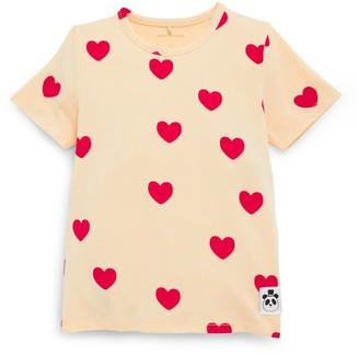 Mini Rodini Heart Print T-Shirt (18 Months-11 Years)