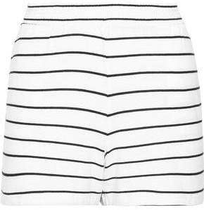 Skin Ashlyn Striped Pima Cotton And Modal-blend Pajama Shorts