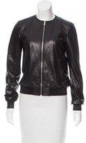 Michael Kors Collarless Leather Jacket