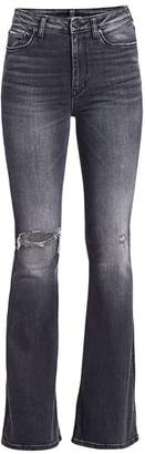 Hudson Jeans Holly High-Rise Distressed Flare Jeans