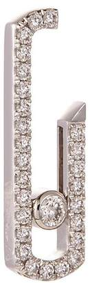 Messika x Gigi Hadid 'Move Addiction Pave' diamond 18k white gold single earring