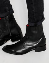 Base London Lancelot Leather Zip Boots