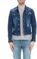 DSQUARED2 Stonewash Distressed Denim Jacket