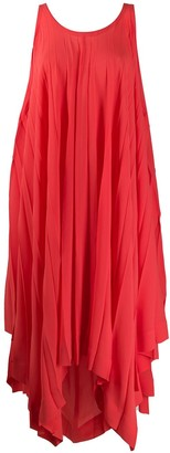 Issey Miyake Flared Pleated Midi Dress