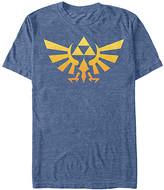 Fifth Sun Men's Tee Shirts NAVY - Legend of Zelda Navy Heather Gradient Crest Tee - Men