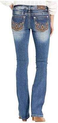 Miss Me Western Embellished Bootcut Jeans in Dark Blue (Dark Blue) Women's Jeans