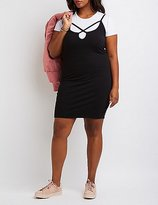 Charlotte Russe Plus Size Strappy Layered Dress