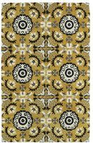Leon Hand-tufted de Yellow Rug (2' x 3')