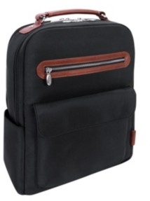 "McKlein Logan 17"" Nylon Dual-Compartment Laptop Tablet Backpack"