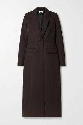 Co Twill Coat - Dark brown