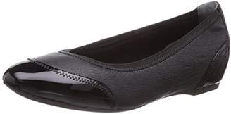 Rockport TOTAL MOTION HW20, Women Closed Toe Ballet Flat, Black - Schwarz (BLACK PEARL)