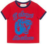 Gucci Baby tiger print cotton t-shirt