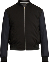 Paul Smith Contrast-sleeve wool-blend bomber jacket