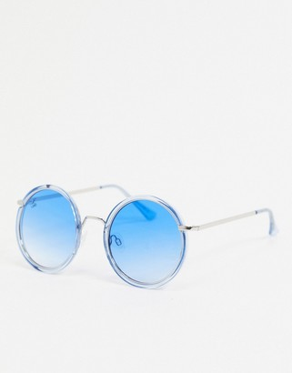 Jeepers Peepers round sunglasses in blue