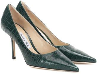 Jimmy Choo Love 85 croc-effect leather pumps
