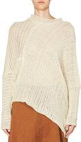 Stella McCartney Asymmetric Open-Weave Sweater, Ivory
