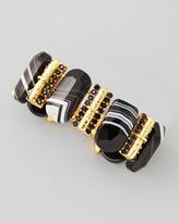 Jose & Maria Barrera Rectangle Black Agate Bracelet