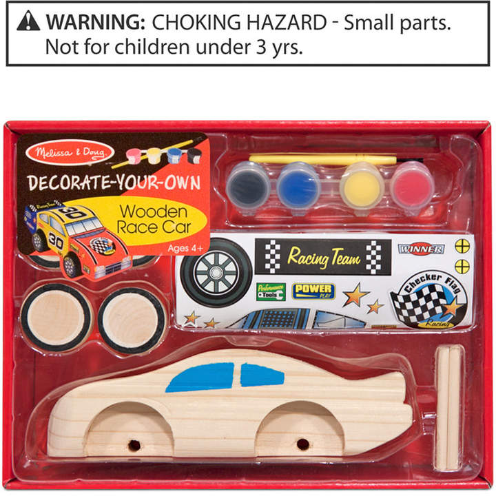 Melissa & Doug Kids Toy, Decorate-Your-Own Wooden Race Car