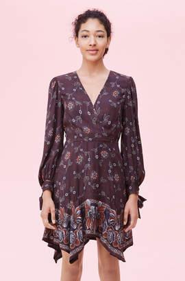Rebecca Taylor Claudine Floral Silk Twill Dress