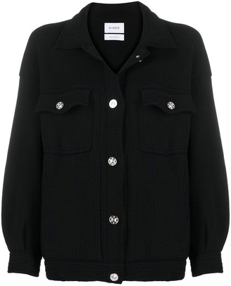 Barrie Ribbed Panel Oversized Cardigan