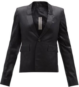 Rick Owens Single-breasted Satin Blazer - Black