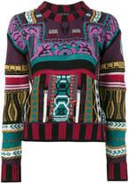 Etro mixed print sweater