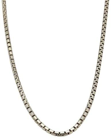 Cartier 18K White Gold Box Link Chain Necklace