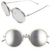 Linda Farrow Women's 51Mm Round Sunglasses - Ash/ Rose Gold