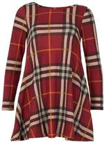 Izabel London *Izabel London Burgundy Checked Swing Dress
