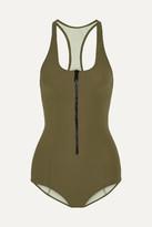 Lisa Marie Fernandez Elisa Bonded Swimsuit - Army green