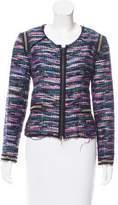Milly Embellished Striped Jacket