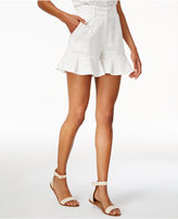 J.o.a. Textured Ruffled-Hem Shorts