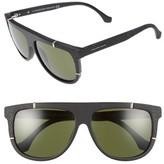 Balenciaga Women's Paris 58Mm Flat Top Sunglasses - Matte Black/ Green Lenses