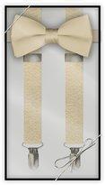 Tuxedo Park Black Silk Self Tie Bow Tie & Suspender Set