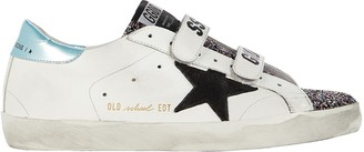 Golden Goose Old School Velcro Leather Sneakers