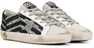 Golden Goose Kids Glitter Lace-Up Sneakers