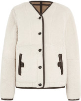 Joseph Leigh Reversible Shearling Jacket - Beige